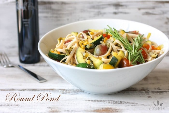 Linguine with Summer Vegetables from veggiesdontbite.com