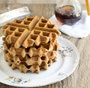 Vegan Gluten-Free Chai-Spiced Teff Waffles
