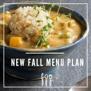 Bursting Full of Fall Flavors Vegan Menu Plan