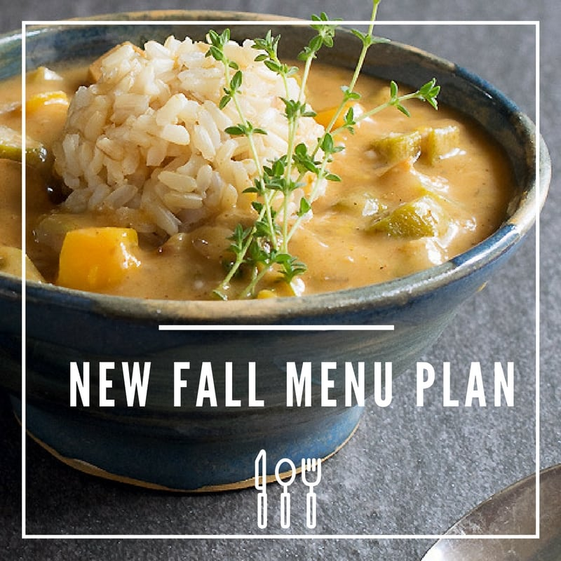 Bursting Full of Fall Flavors Vegan Menu Plan