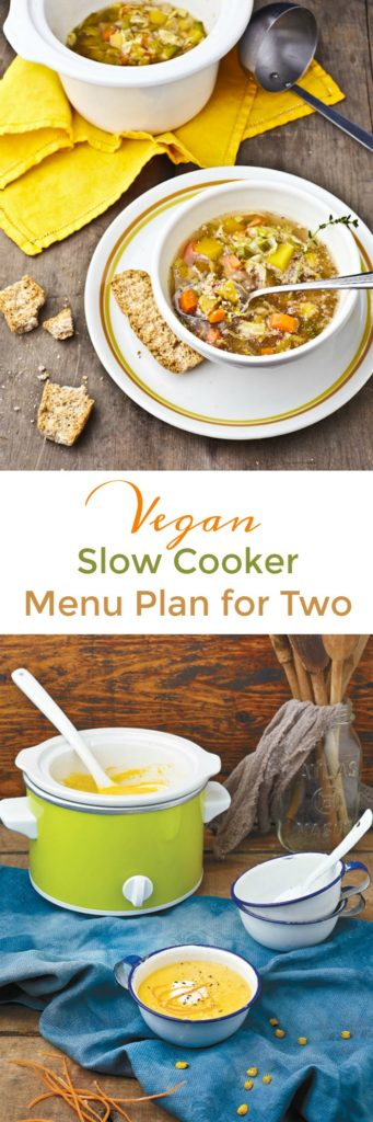 Vegan Slow Cooker Menu Plan for Two People Households