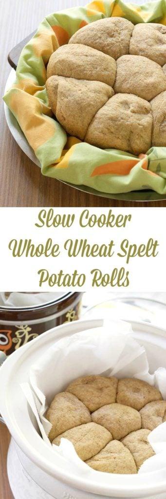 Slow Cooker Whole Wheat Spelt Potato Rolls