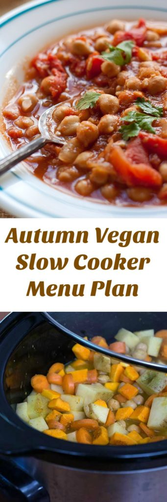 A Vegan Slow Cooker Menu Plan That Makes Autumn Easy!