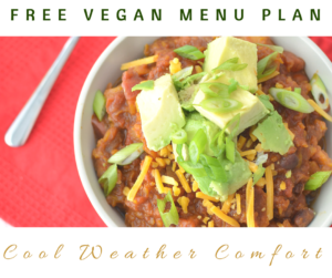 Cool Weather Comfort Vegan Menu Plan
