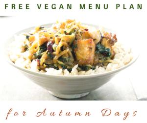 Free Vegan Menu Plan for Autumn Days