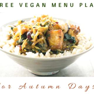 Free Vegan Menu Plan with lots of Slow Cooker Recipes