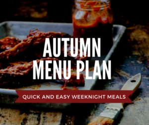 Quick and Easy Weeknight Autumn Vegan Menu Plan