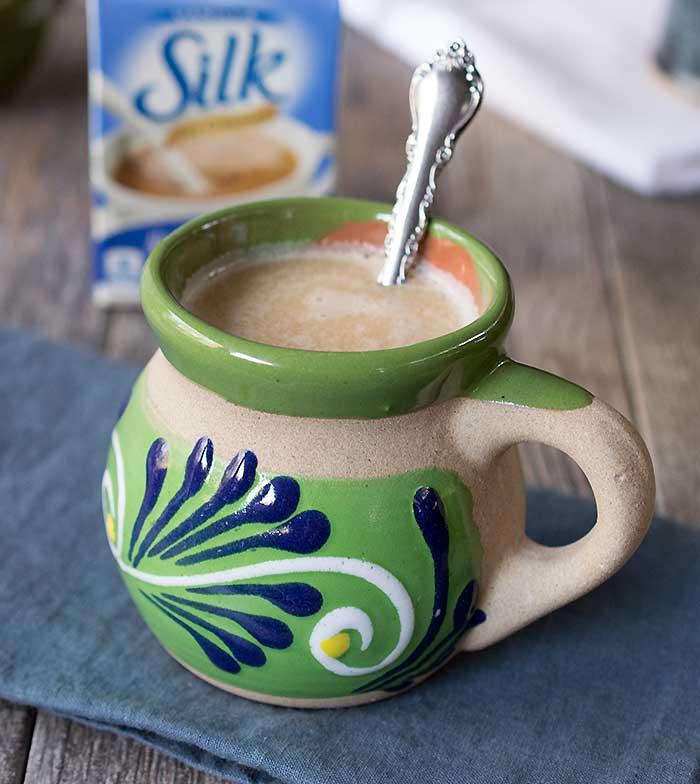 Vegan Cinnamon Roll Coffee with Homemade Brown Sugar Cinnamon Coffee Syrup