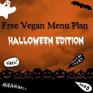 Free Vegan Menu Plan: Halloween Edition