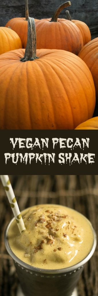 Vegan Pecan Pumpkin Shake - No Ice Cream Needed!