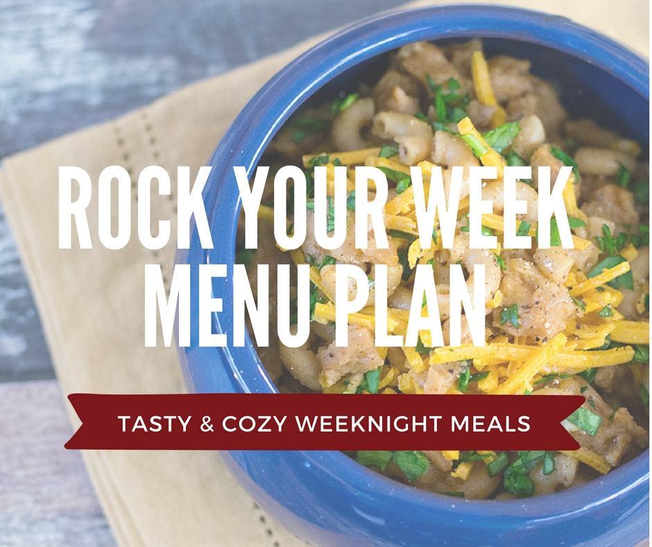 Rock your week with my free vegan menu plan!