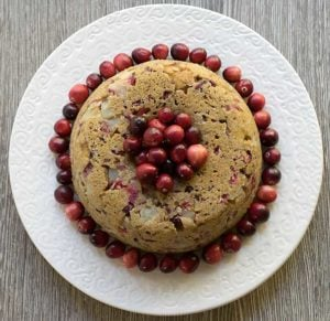 Vegan Pear and Cranberry Instant Pot Cake