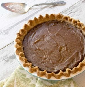 Gluten-free Vegan Pumpkin Pie with a Teff Flour Pecan Crust