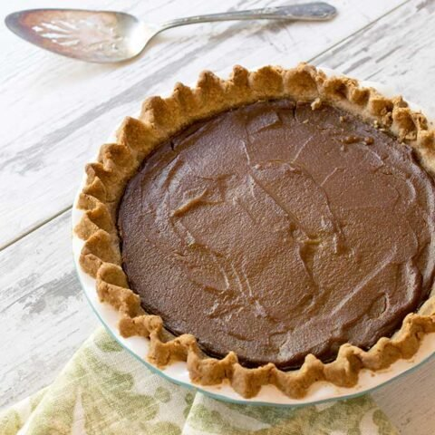 Gluten-free Vegan Pumpkin Pie with a Teff Flour Pecan Crust