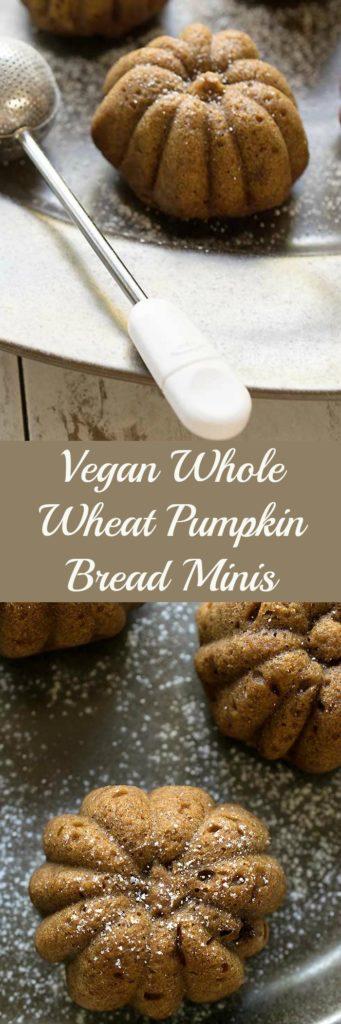 Vegan Whole Wheat Pumpkin Bread Minis