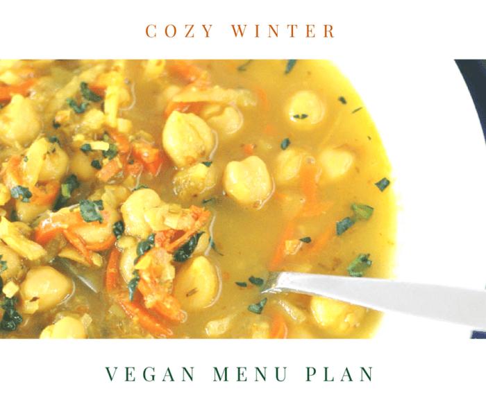 Cozy Winter Vegan Menu Plan
