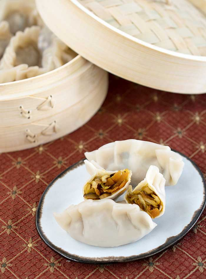 Asian Steamed Dumplings from The Ultimate Vegan Cookbook for Your Instant Pot by Kathy Hester