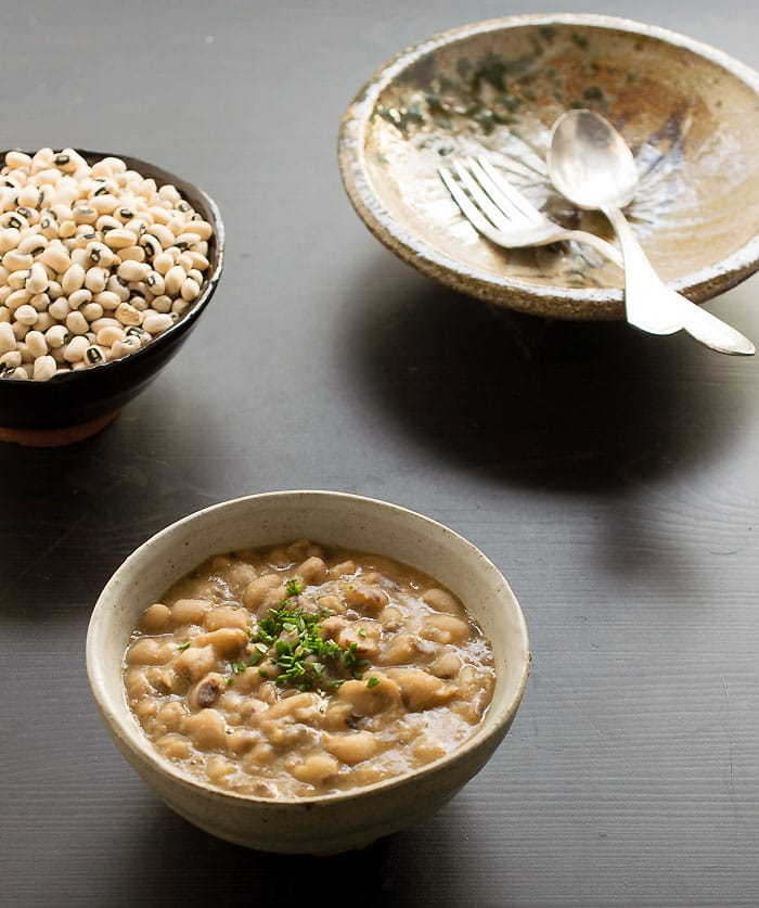 Vegan Instant Pot Simple Creamy Black-Eyed Peas