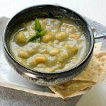 Smoky Vegan Split Pea Soup with Sweet Potatoes and Navy Beans (Instant Pot and Slow Cooker)