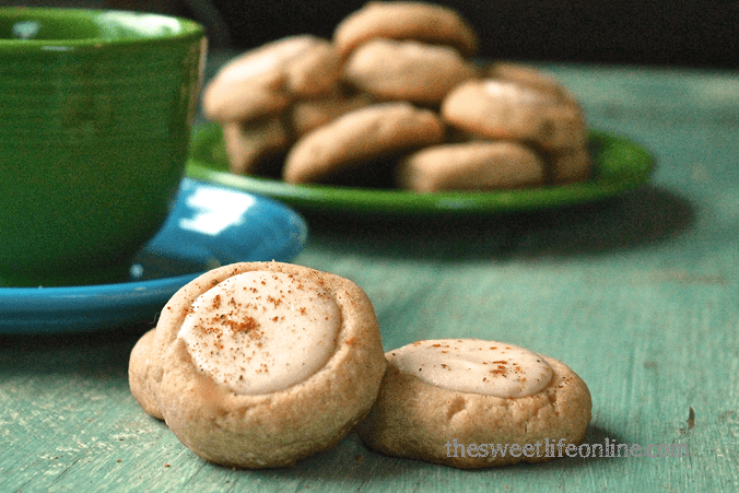 Vegan Eggnog Cheesecake Thumbprint Cookies anyone? They are a ...