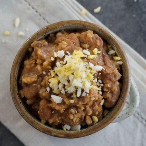 Vegan Instant Pot Cranberry Bean, Millet and Bulgur Chili
