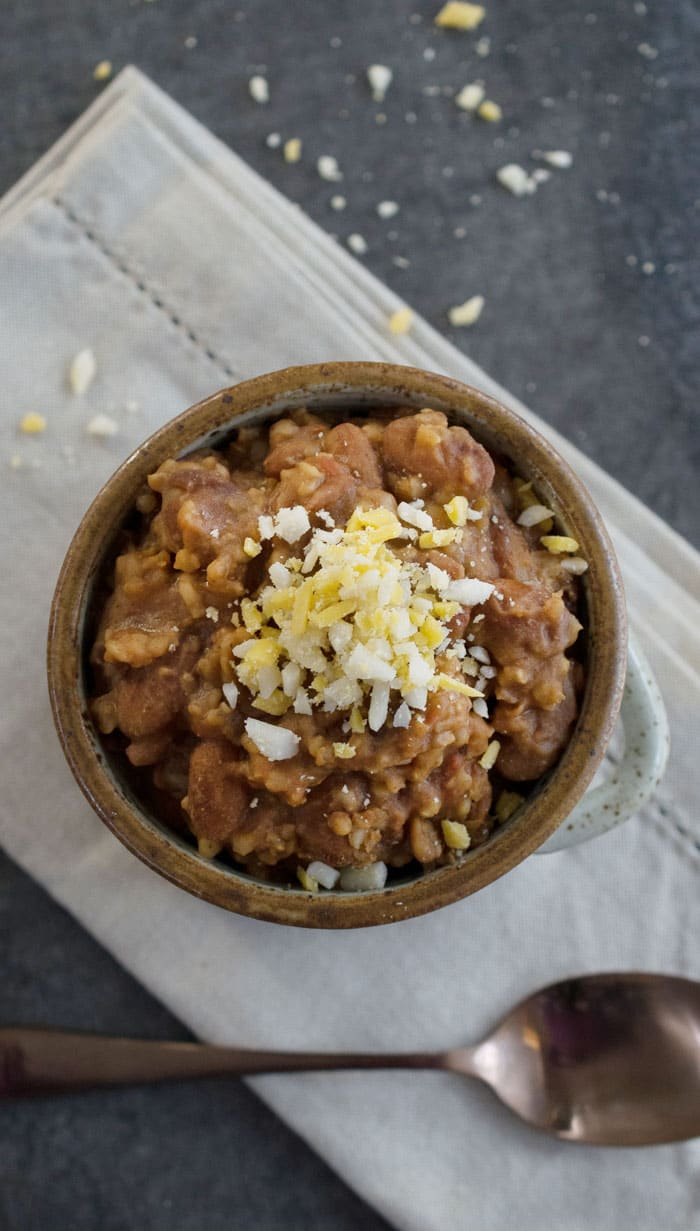 Vegan Instant Pot Cranberry Bean Millet and Bulgar Chili