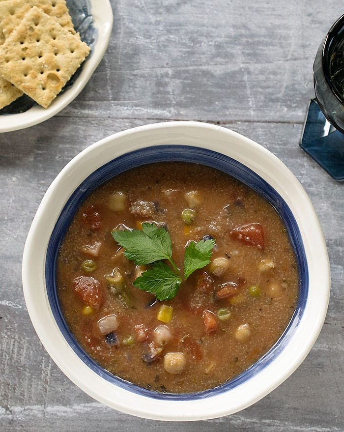 how to cook vegetable soup in instant pot