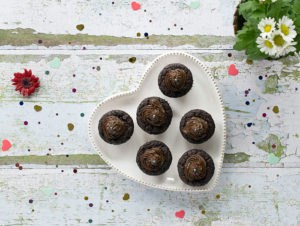Gluten-free Vegan Chocolate Avocado Cupcakes with No Added Oil!