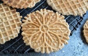 Vanilla Gluten-free Vegan Pizzelles Made with Teff Flour!