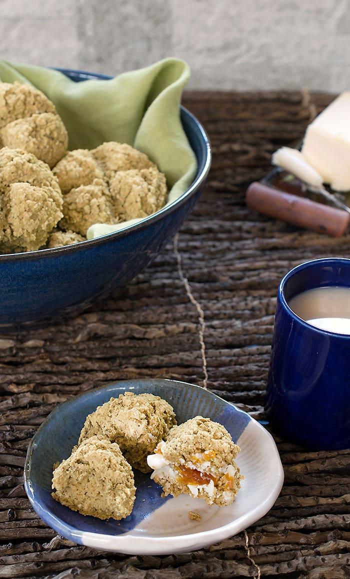 Mini Gluten-Free Vegan Irish Soda Breads made with Teff Flour