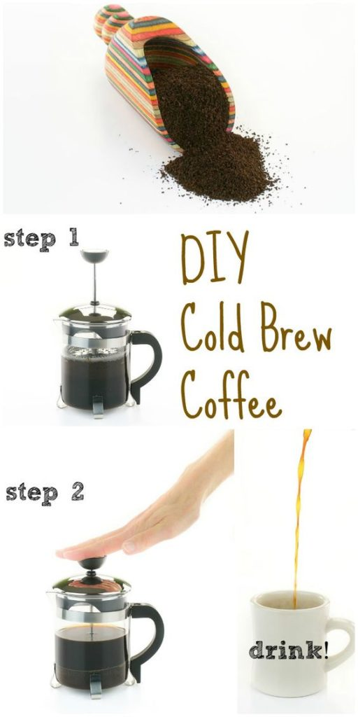 Step by step cold brew coffee in your French press