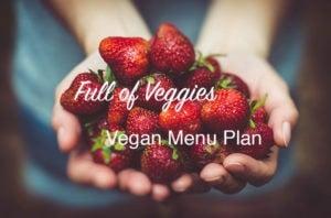 Full of Veggies Vegan Menu Plan