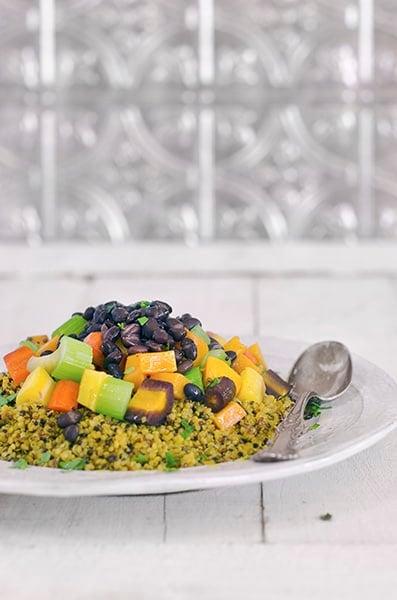 Vegan Roasted Veggie Quinoa Casserole