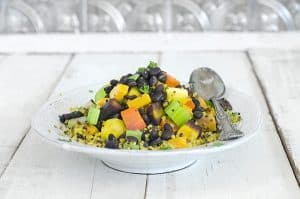 Vegan Roasted Veggie Quinoa Casserole & Creamy Not-ella Carob Butter from The Migraine Relief Plan