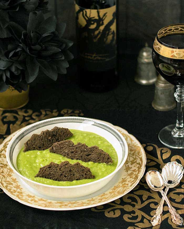 Ghoulishly Green Potato Soup