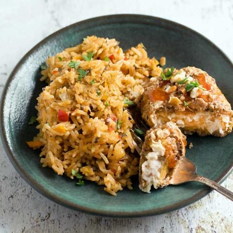 Air Fryer Cajun Pecan-Crusted Gardein Fishless Filets