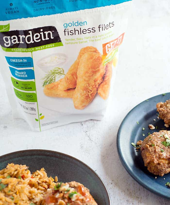 "I love things that make dinner easier and we eat Gardein at least every other week. Gardein, pronounced ""gar-deen,"" is a plant protein that's all vegan and come in a wide variety of flavors. I always have a few packages stashed in the freezer for nights that I need to get dinner on the table quickly and with little effort. It's easy to find in most grocery stores and Kroger always stocks them in the frozen aisle, usually near the frozen breakfast items. One of Cheryl's favorites is their Crispy Tenders. I heat them in the air fryer, but they can also be cooked in your oven, microwave, or stove top in a saute pan. No matter which cooking method you choose they are cooked in minutes. I use the Crispy Tenders to top salads, in tacos, and we even eat as is with a bbq sauce dip. This is still so much better than getting take-out fries on the way home. All Gardein products are made from non-GMO soy and wheat, plus ancient grains and veggies."