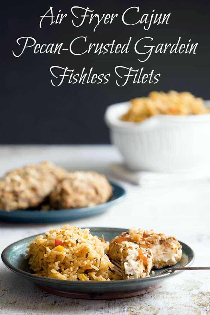 Air Fryer Cajun Pecan-Crusted Gardein Fishless Filets