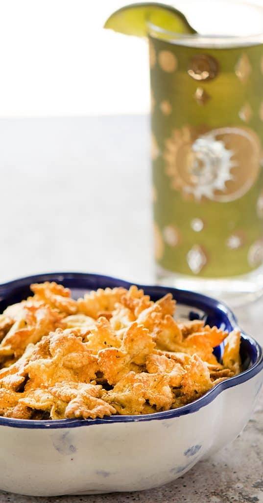 Vegan Air Fryer Pasta Chips