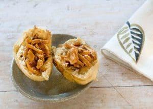 BBQ Jackfruit Stuffed Idaho® Potato Rolls