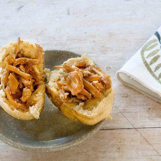 BBQ Jackfruit Stuffed Idaho® Potato Rolls