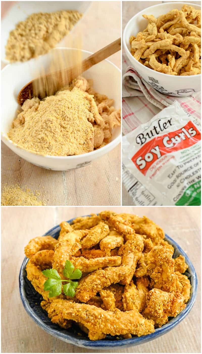 "Vegan Air Fryer Southern Fried ""Chicken"" Soy Curls"