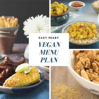 Easy Peasy Vegan Menu Plan for Crazy Busy Weeks!