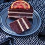Vegan Blood Orange and Chocolate Mini Ice Cream Cake from The Best Homemade Vegan Cheese & Ice Cream Recipes by Marie Laforêt