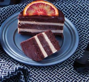 Vegan Blood Orange and Chocolate Mini Ice Cream Cake from The Best Homemade Vegan Cheese & Ice Cream Recipes by Marie Laforêt