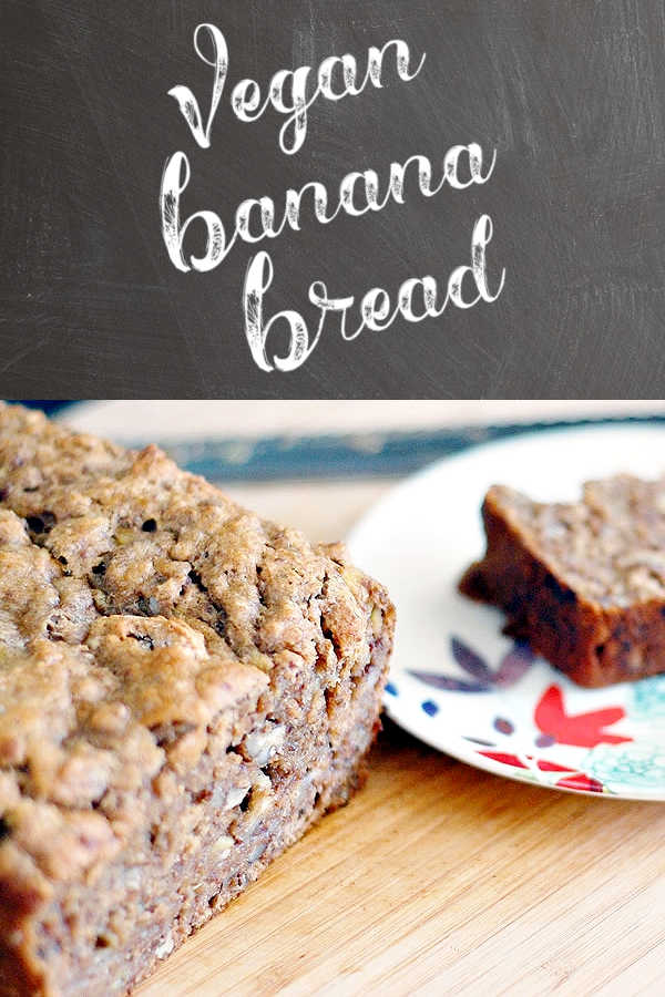 Vegan Banana Bread with Pecans and a Touch of Bourbon