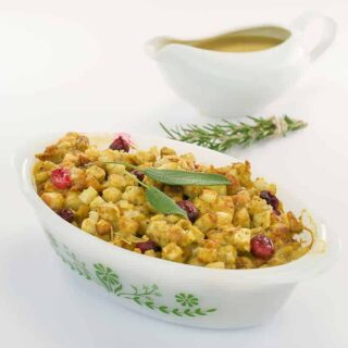 Vegan Thanksgiving Stuffing Casserole