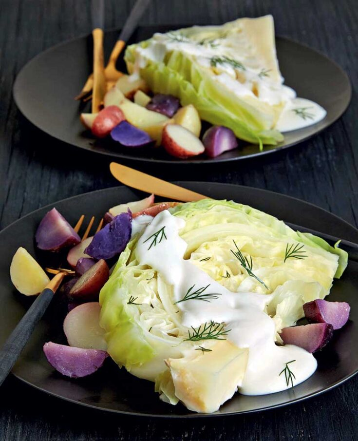 Slow Cooker Cabbage Steaks