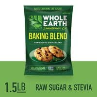 WHOLE EARTH SWEETENER CO. Baking Blend, Raw Sugar & Stevia Blend, Sugar Substitute, Stevia Sugar, Stevia Baking, Sugar Substitute, 1.5 Pound