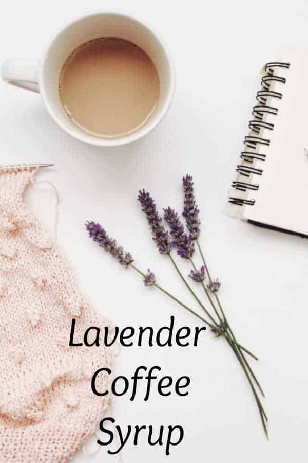 Lavender Syrup with Coconut Syrup for Your Coffee or Tea